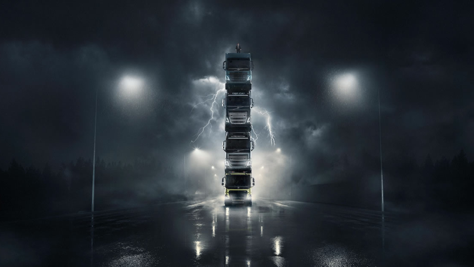 Check out Volvo Trucks' Latest Stunt: The Truck Tower